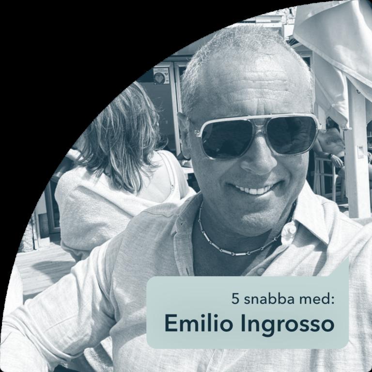 Fem snabba frågor om privatekonomi med: Emilio Ingrosso