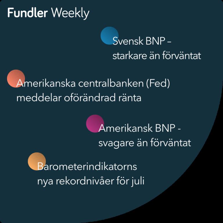 Fundler Weekly Vecka 30